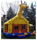 Wacky and Fun Giraffe Bounce House