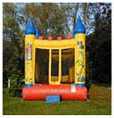 Knightly Yellow Castle Bounce House